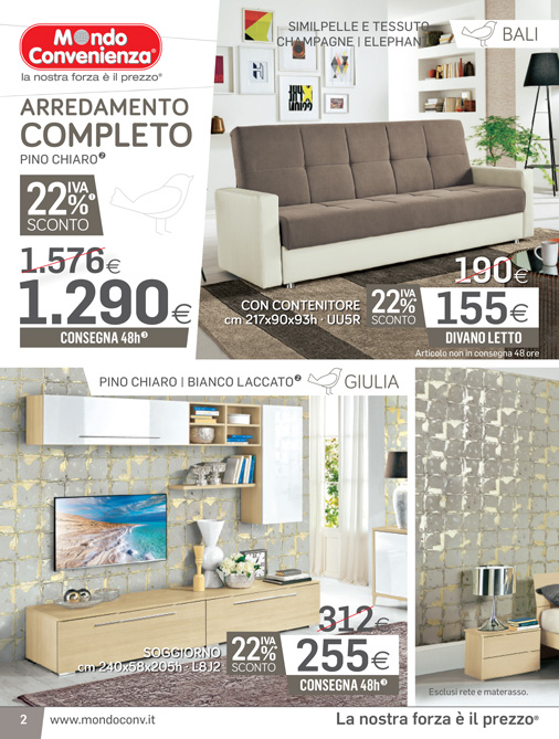 mondo convenienza catalogo inverno 2017 - Mobili Convenienza Catanzaro