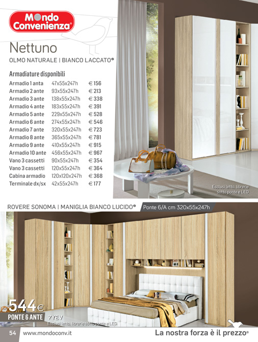 Mondo convenienza catalogo inverno 2017 for Cassettiera armadio mondo convenienza