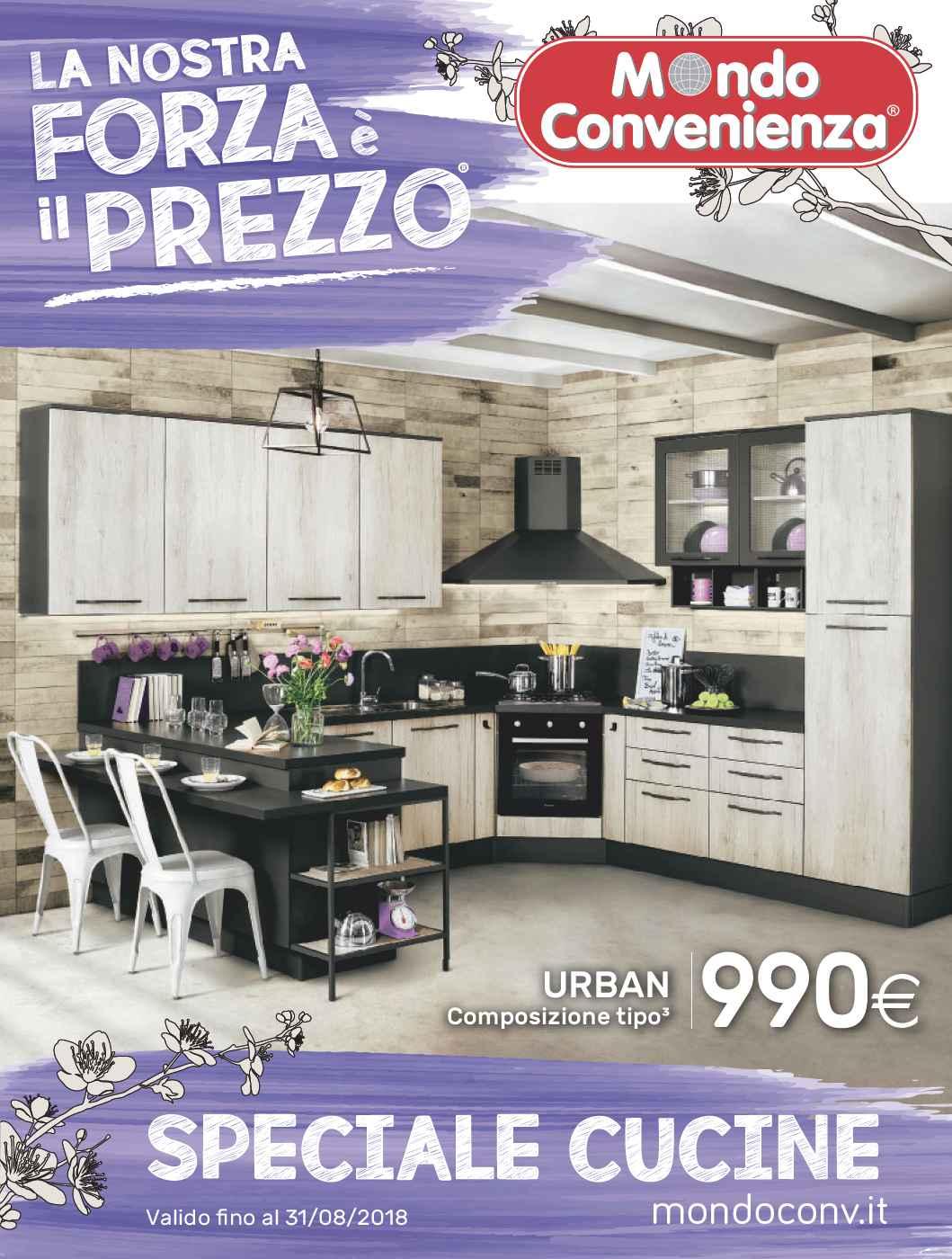 Cucine Moderne Mondo Convenienza 2018.Catalogo Primavera 2018 Cucine